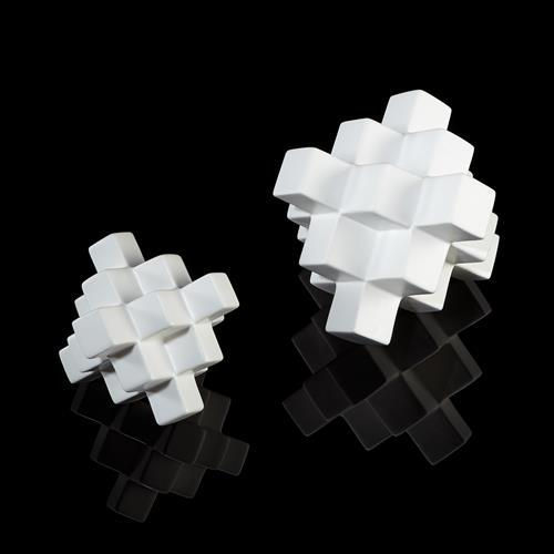 Cubic Pyramid-Matte White