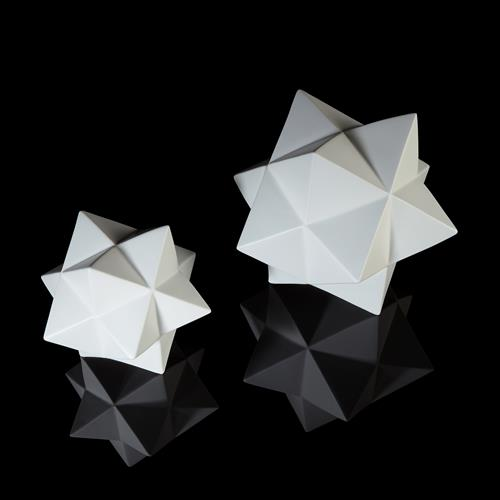 Stellated Dodecahedron-Matte White
