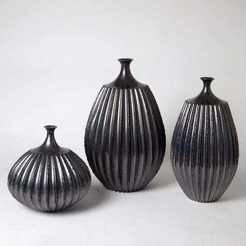Sawtooth Vase Collection-Graphite