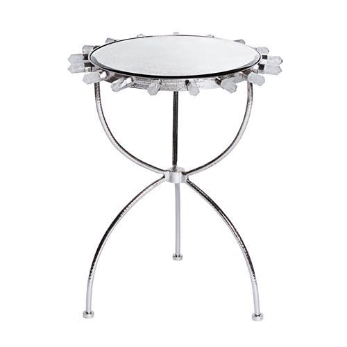 Lola Quartz Table-Nickel