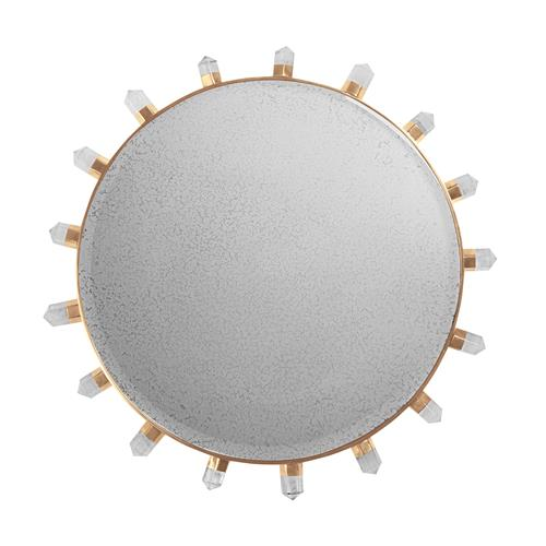 Lola Quartz Mirror-Brass