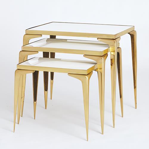 Stiletto Nesting Tables-Gold