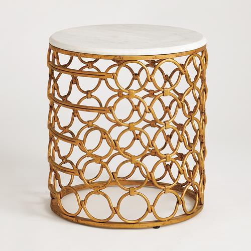 Loop Side Table-Gold