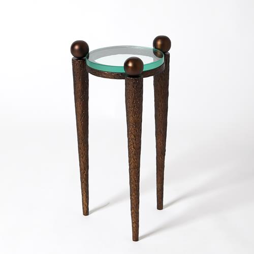 Rock On Accent Table-Bronze