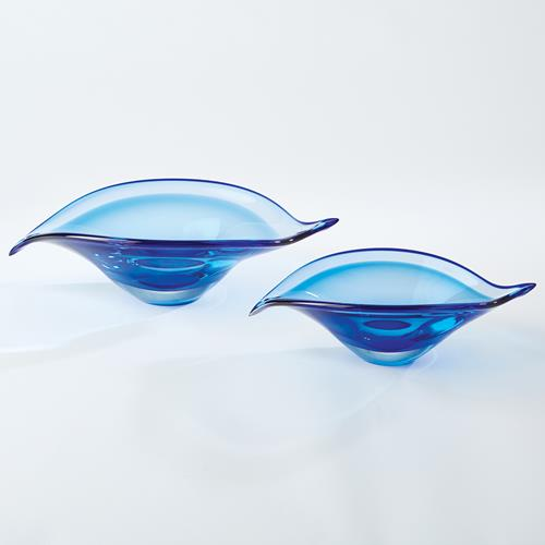 Bent Leaf Bowls-Blue