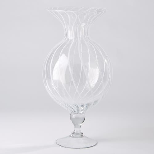 White Stripe Vase