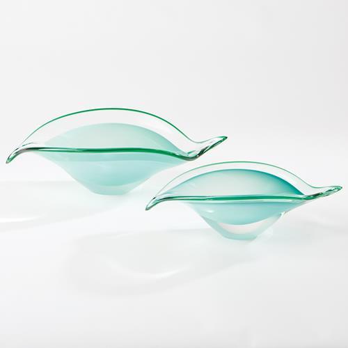 Bent Leaf Bowls-Celadon