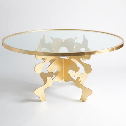 """Ink Blot Dining Table-Gold Leaf-60"""""""