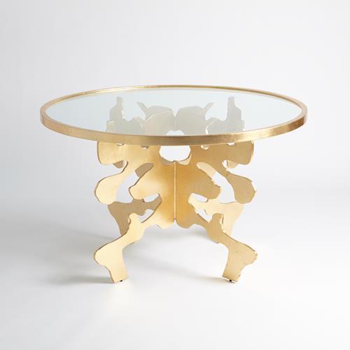 Ink Blot Dining Table-Gold Leaf-48