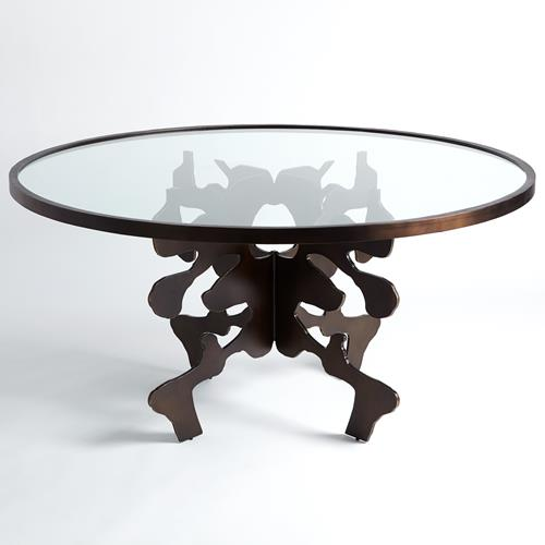 Ink Blot Dining Table-Bronze-60