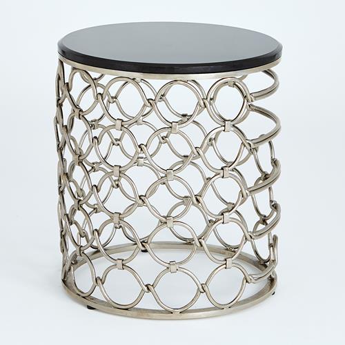 Loop Side Table-Silver