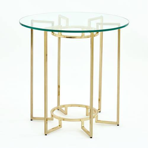 Open Leg Table-Gold