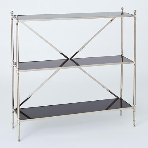 Acorn Open Shelf-Nickel