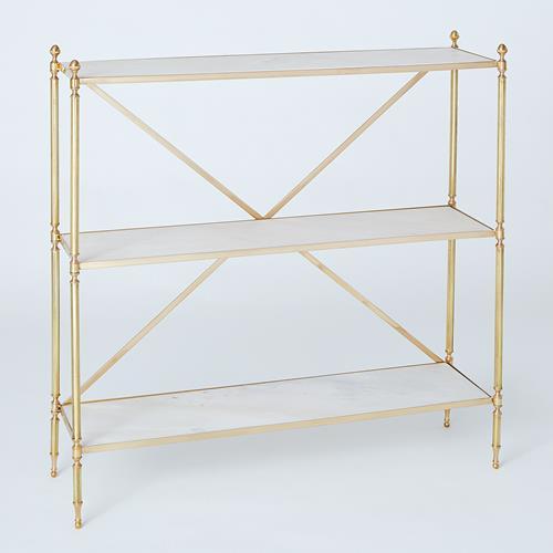 Acorn Open Shelf-Brass