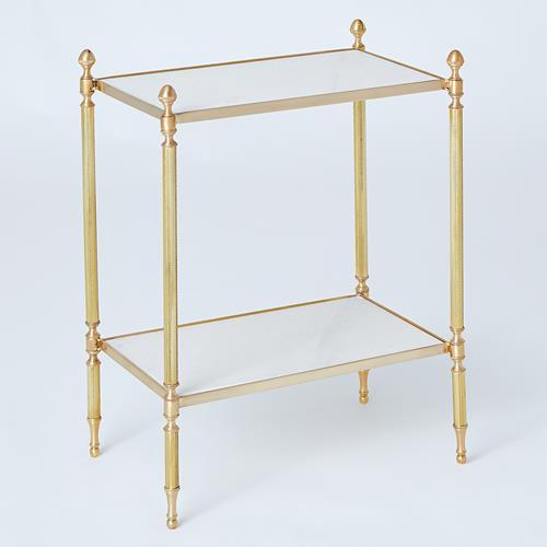 Acorn Side Table-Brass