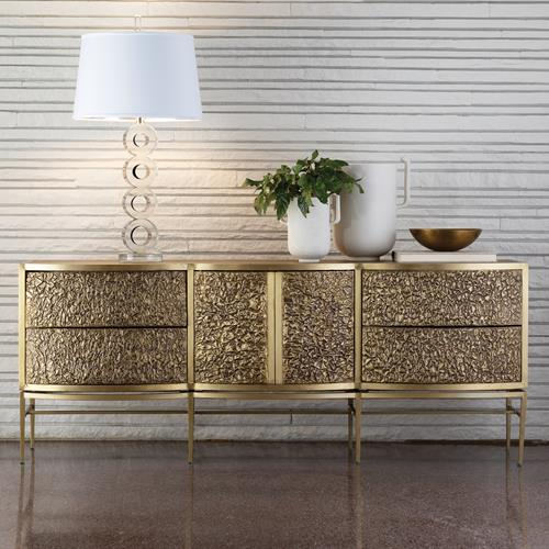 Crinkle Long Cabinet - Brass/Bronze