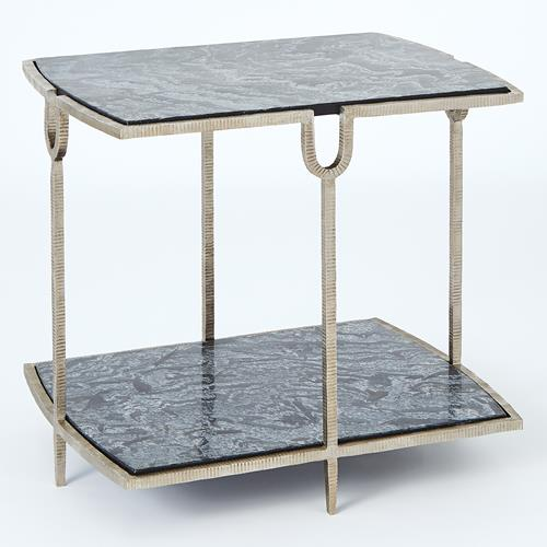 Curve Side Table-Silver