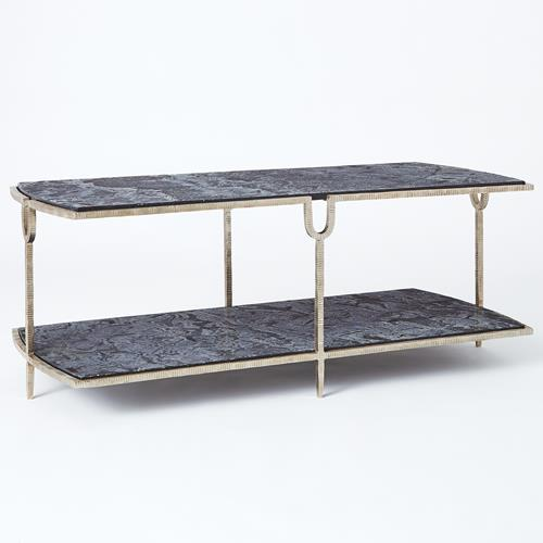 Curve Cocktail Table-Silver