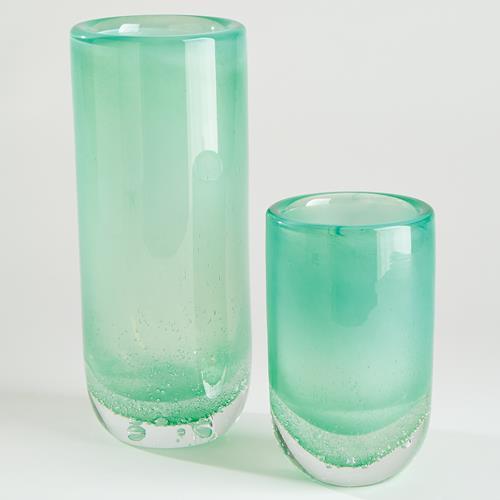 Bubble Cylinder Vases-Celadon