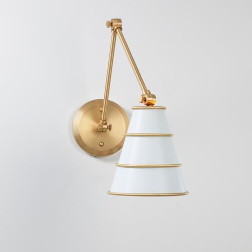 Talouse Sconce-Antique Satin Brass/Ivory