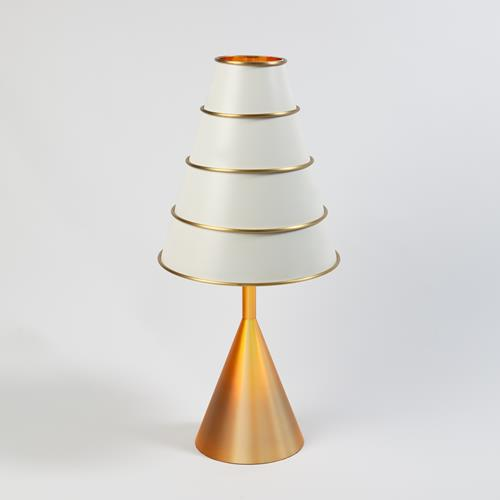 Talouse Table Lamp-Antique Satin Brass/Ivory
