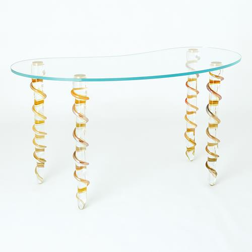 Kidney Glass Vanity/Desk