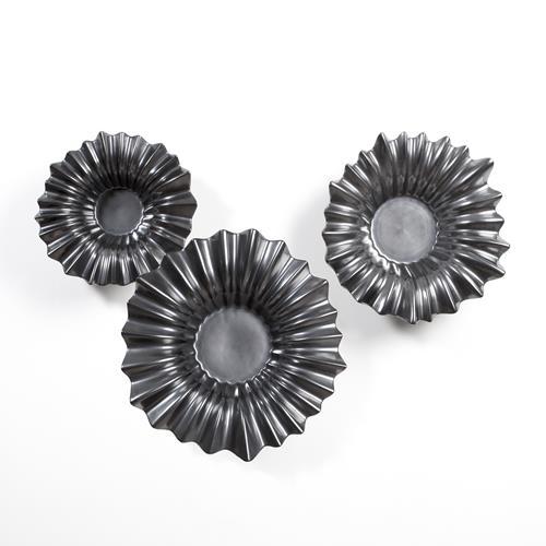 Wavy Bowls-Hematite