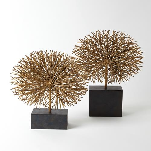 Tumble Weed Sculpture-Gold Leaf
