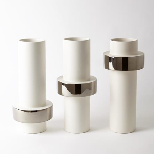 Silver Ring Vase-High