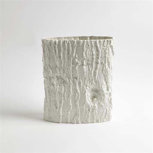 Acacia Ellipse Vase-Matte White