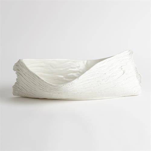 Twisty Japanese Cherry Bowl-Matte White