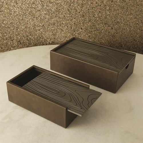 Wood Grain Boxes-Charcoal