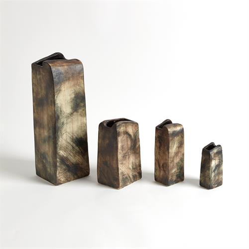 Henge Block Vases-Vertical-Hand Washed Finish