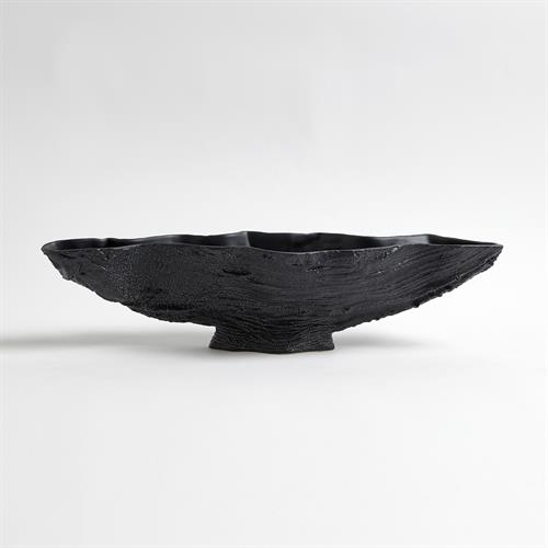 Serpentine Lime Bowl-Matte Black