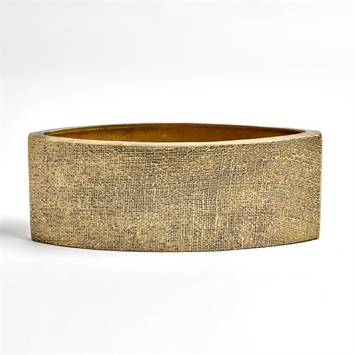 Hemp Etched Planter-Brass