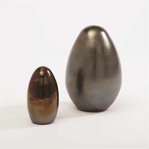 Glass Eggs-Black Metallic
