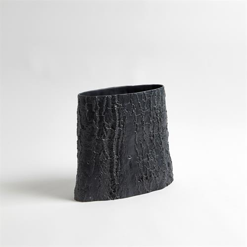 Elm Ellipse Vase-Matte Black