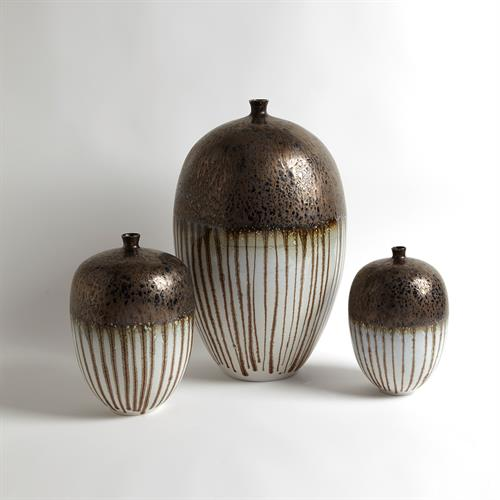 Reactive Bronze Stripe Vessels