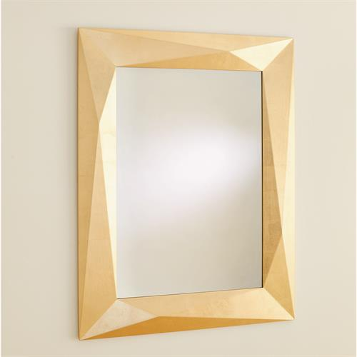 Angular Mirror-Gold Leaf