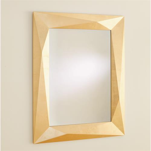 Angular Mirror-Gold Leaf