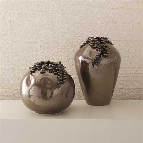 Cascading Reef Vases-Reactive Bronze