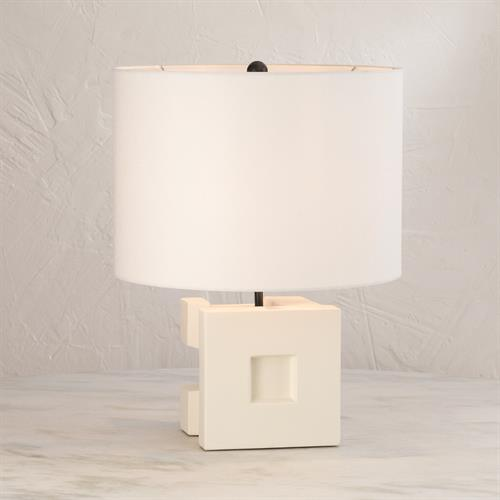 Cubist Ceramic Lamp