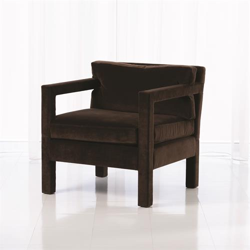 Swank Club Chair-Chocolate