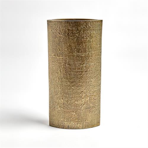 Hemp Etched Vases-Brass