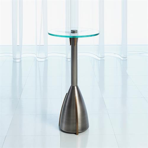 Spikes Arm Table-Gunmetal