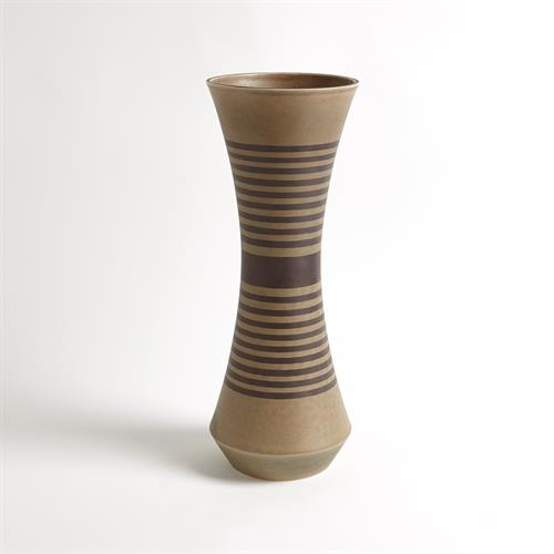 Banded Cinched Vase-Tarnish