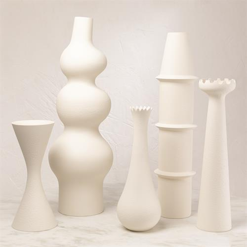 Overscale Vases-Matte White