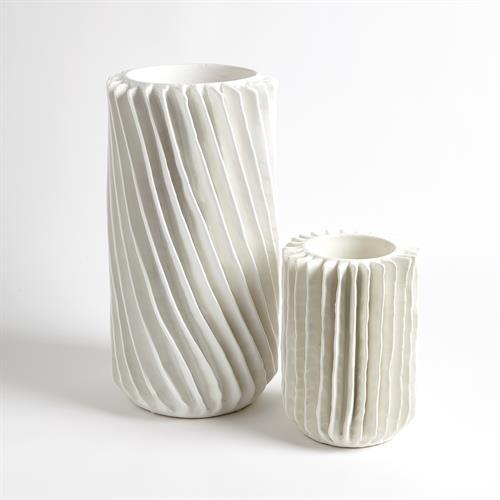 Radiator Swirl Vases-Matte White