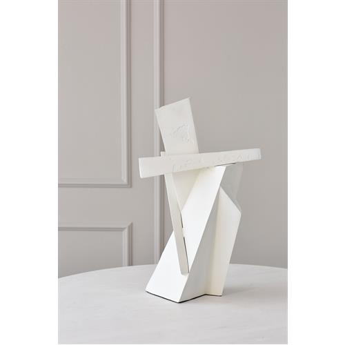 Angular Outcrop Sculpture-White