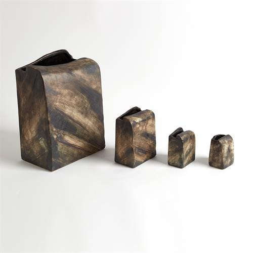 Henge Block Vases-Square-Hand Washed Finish
